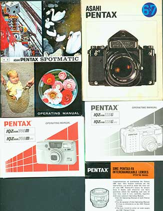 Pentax Program A Instruction Manual More Books Listed