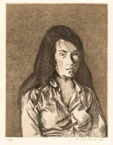 Portrait of a Young Woman. Raphael Soyer.