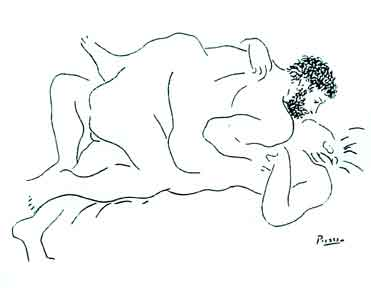 Couple Lying Down. Pablo Picasso.