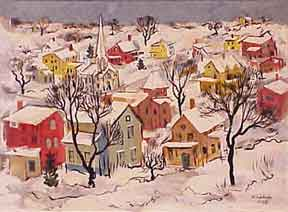 Houses with Snow. Helen Ludwig.