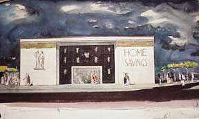 Design for Home Savings, Anaheim, California. Millard Sheets.