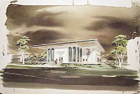 Design for Santa Rosa Savings, California. Millard Sheets.