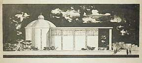 Design for a Building with Dome and Frieze. Millard Sheets.