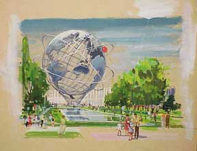 Unisphere (a.k.a. Globitron) ,Symbol of New York World's Fair. Millard Sheets.