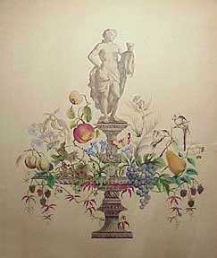 Classical figure with fruit. Christoph Castou.