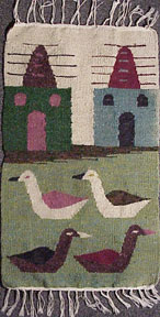 Four Ducks and Two Buildings. Anonymous.