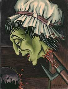 Green Monster with Severed Head. Alexis Pencovic.