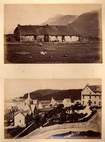 The Smithy at Kinlochewe, Ross-Shire [with] View from the Grand Hotel, Oban. G. W. Wilson.