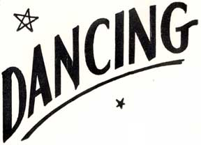 Dancing. Letterpress Metal Cut Artist.