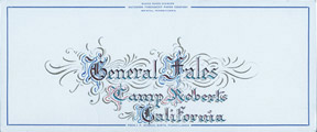 Calligraphic Design for a Sign for the General. Brigadier General. E. W. Fales.