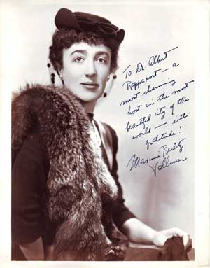 Autographed Photo portrait of Maxine 'Becky' Vollmer. Harold R. Peat.
