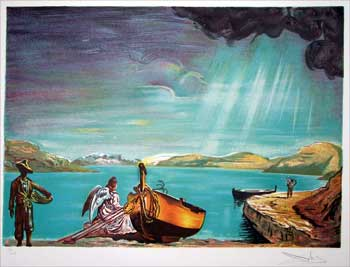 Angel by a Lake. Salvador Dali, After.