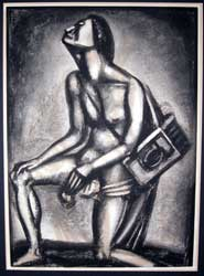 Sunt lacrymae rerum - Miserere 54. [In all things, tears {Virgil, Aeneid I}]. Georges Rouault.
