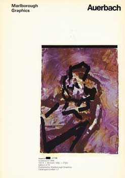 Prospectus for Recent Graphic Works by Frank Auerbach. Frank Auerbach.
