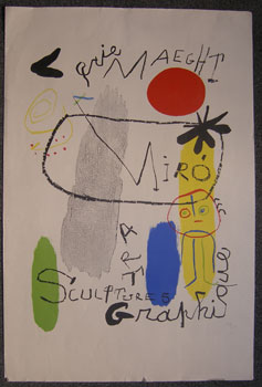 Poster for the exhibition Sculpture-Art Graphique. Joan Miró, after.