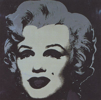 Marilyn Monroe 1967 in Black, Dark Gray and Light Gray. Andy Warhol, After.