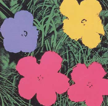 Flowers 1970 in Wisteria Blue, Buttercup, Carmine and Black. Andy Warhol, After.