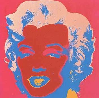 Marilyn Monroe 1967 in Crimson, Cherry, Flax Blue, Shell Pink and Apricot. Andy Warhol, After.