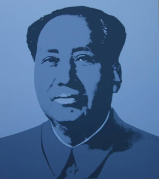 Mao in Blue. Andy Warhol, After.