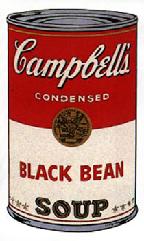 Campbell's Soup I 1968. Black Bean. Andy Warhol, After.
