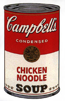 Campbell's Soup I 1968. Chicken Noodle. Andy Warhol, After.