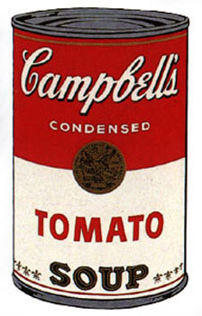 Campbell's Soup I 1968. Tomato. Andy Warhol, After.