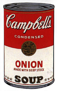 Campbell's Soup I 1968. Onion. Andy Warhol, After.