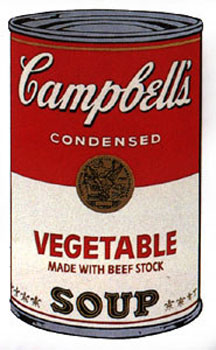 Campbell's Soup I 1968. Vegetable Made with Beef Stock. Andy Warhol, After.