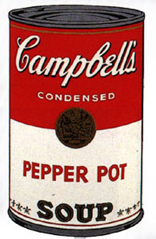 Campbell's Soup I 1968. Pepper Pot. Andy Warhol, After.