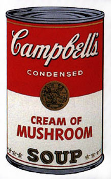 Campbell's Soup I 1968. Cream of Mushroom. Andy Warhol, After.
