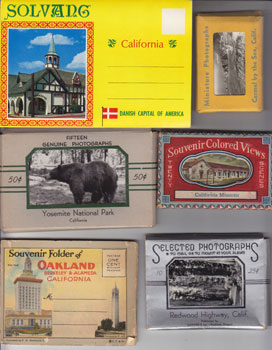 California Souvenir Grab Bag: Solvang, Yosemite National Park, Redwood Highway, Oakland, Missions, and Carmel by the Sea. F W. Woolworth.