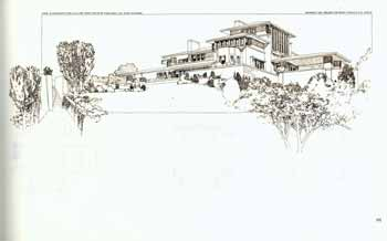 Perspective of dwelling for Victor Metzger. Sault Ste. Marie., Michigan. 1902. Pl. IX. Frank Lloyd Wright.