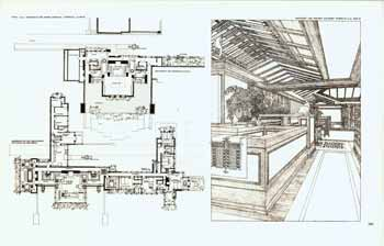 Dwelling for Mr. and Mrs. Avery Coonley. Ground Plan and entrance alcove. Riverside. Illinois. 1908. Plate LVIa. Frank Lloyd Wright.