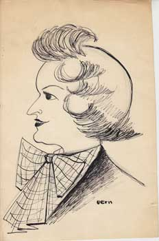 MGH I Caricature (Portrait of a Lady). Vern.