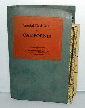Heald-Menerey's Geographical, Commerical and Recreational Map of California. (Special Desk Map of California.). Heald-Menerey Co, Calif San Francisco.