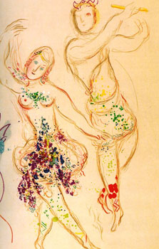 Drawings and Watercolors for the Ballet. Marc Chagall, Jacques Laissaigne.