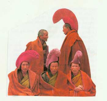[Monks In Full Regalia, Drepung Monastery, Lhasa].