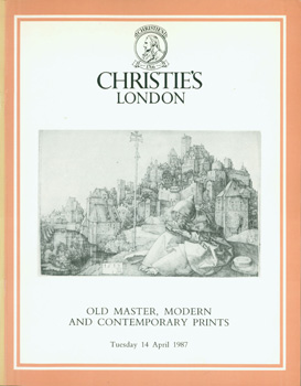 Old Master, Modern and Contemporary Prints, April 14, 1987. Sale REGAN-3580. Lots 1 - 378. Christie's, London.