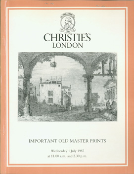 Important Old Master Prints, July 1, 1987. Sale ROAD-3634. Lots 1 - 331. Christie's, London.