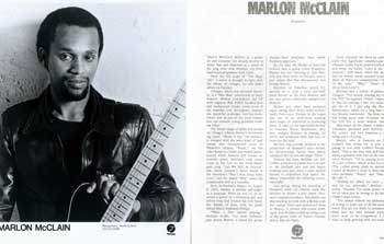 Marlon McClain Publicity Photographs & Biographical Profiles for Fantasy Records. Fantasy Records, New York.