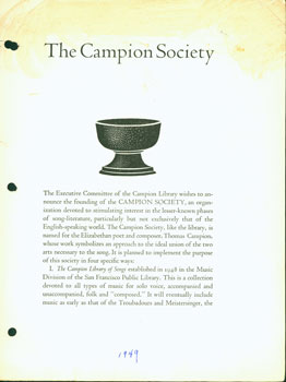 The Campion Society. The Campion Society, Executive Committee of the Campion Library, John Edmunds, Leonard Ralston.