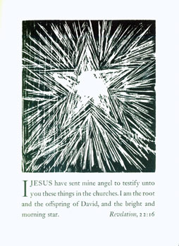 I Jesus Have Sent Mine Angel To Testify Unto You These Things in the Churches. Arion Press, Andrew Hoyem, Jim Dine, ill.