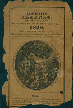 The Christian Almanac, For New England. For the Year of our Lord and Saviour, Jesus Christ, 1828. American Tract Society, Typographic Library And Museum of the American Type Founders Company.