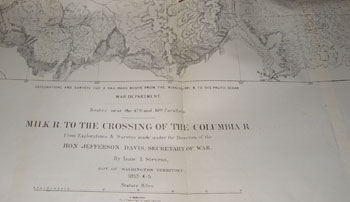 US Pacific Railroad Survey: Map, Milk River To The Crossing of the ...