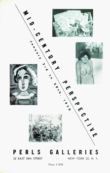 Mid-Century Perspective: January 3 - January 28, 1950. Camille Bombois, Pierre Bonnard, Georges Braque, Paul Klee, Henri Matisse, Pablo Picasso, Salvador Dali, Marc Chagall.