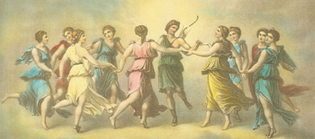 The Dance of Apollo With the Muses. After Baldassarre Peruzzi.