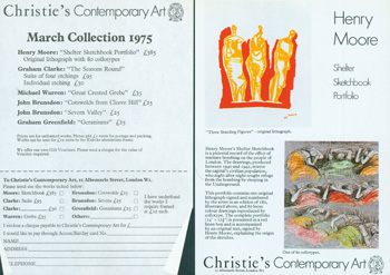 Christie's Contemporary Art, London. Christmas Collection, March 1975. Christie's Contemporary Art, London.