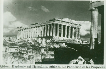 Ten Post Cards, B&W Photographs of Ancient Ruins in Athens.