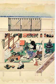 Pl. 3 of 9 in a Tosa Trades (Occupations) portfolio. Japanese Ukiyo-e Artist.