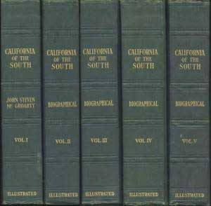 California of the South. A history. First edition. John Steven McGroarty.